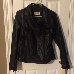 Black Faux Leather Michael Kors Jacket Small